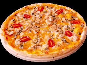 пицца с курицей терияки